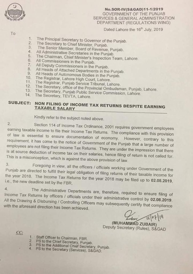 Non Filing of Income Tax Returns Despite Earnig Taxable Salary Notifications